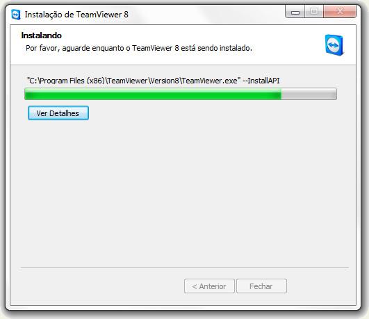 instalação do teamviewer