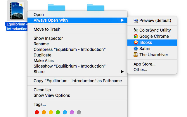 Alterar o aplicativo padrão para qualquer tipo de arquivo